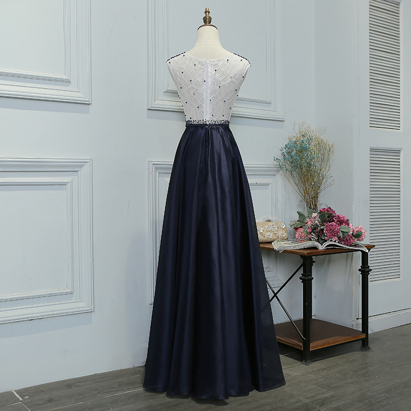 SOCCI Klassiek zwart en wit Patchwork Elegant parels Kralen lang - Jurken voor bijzondere gelegenheden - Foto 3