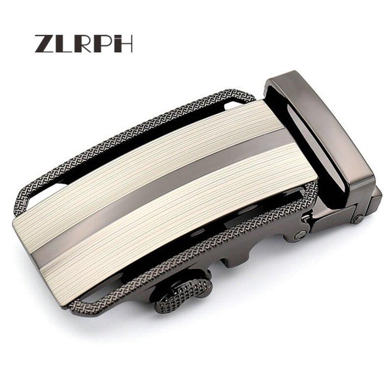 ZLRPH Famous Brand Belt Buckle Men Top Quality Luxury Belts Buckle For Men 3.4-3.55 Cm Strap Male Metal Automatic Buckle