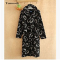 Fashion lovers coral fleece bathrobes with a hood thermal soft comfortable lounge