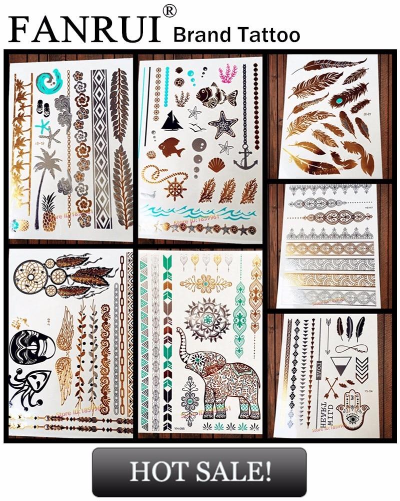 364962c64f033 Tribal Animals Totem Temporary Tattoo Stickers Women Fashion Body Chest Arm  Art Fake Tatoos 3D Feather Elk Waterproof Tattoo Fox