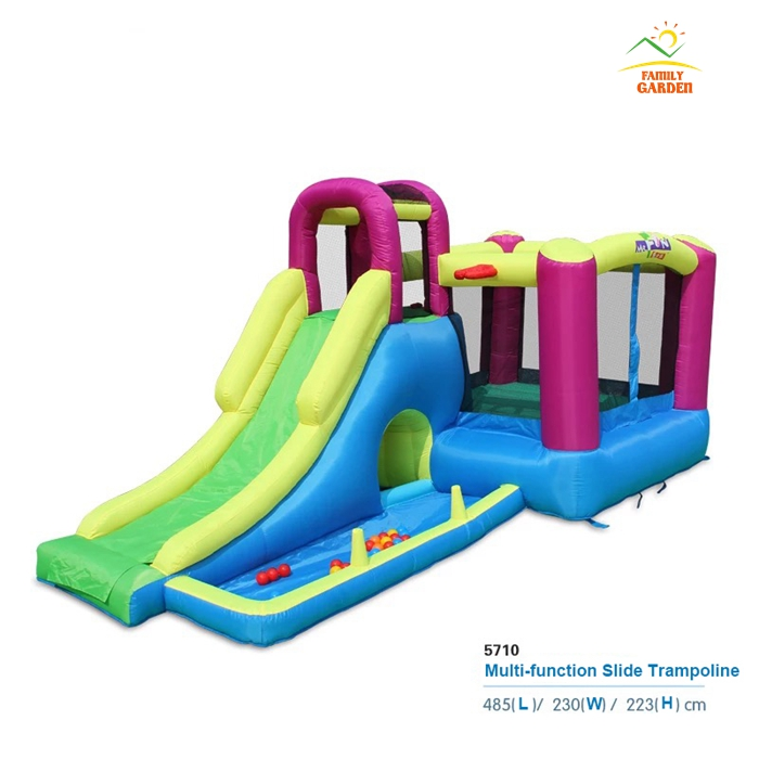 2017 New Multifunction Slide Bounce House Inflatable