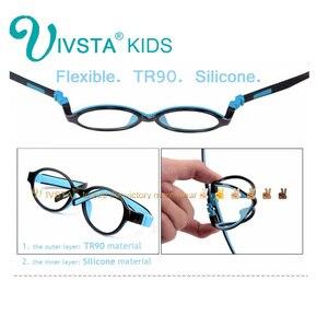 Image 5 - IVSTA 519 dwutlenek silikonu dziewczyny okulary 49 15 TR90 dzieci okulary na receptę rama z pasek podtrzymujący receptę