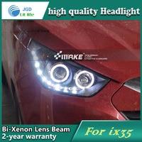 Car Styling Head Lamp Case For Hyundai IX35 2010 2013 Headlights LED Headlight DRL Lens Double