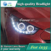 Car Styling Head Lamp Case For Hyundai IX35 2010 2013 Headlights LED Headlight DRL Lens Double