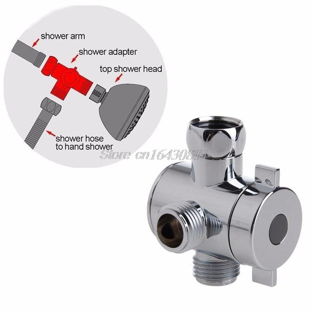 3 Way T adapter Valve For Toilet Bidet Shower Head Diverter Valve 1 ...