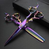 Sharonds Professional 6 Inch Hairdressing Scissors Set Salon Professional Modeling Stainless Steel Barber Scissors Supplies