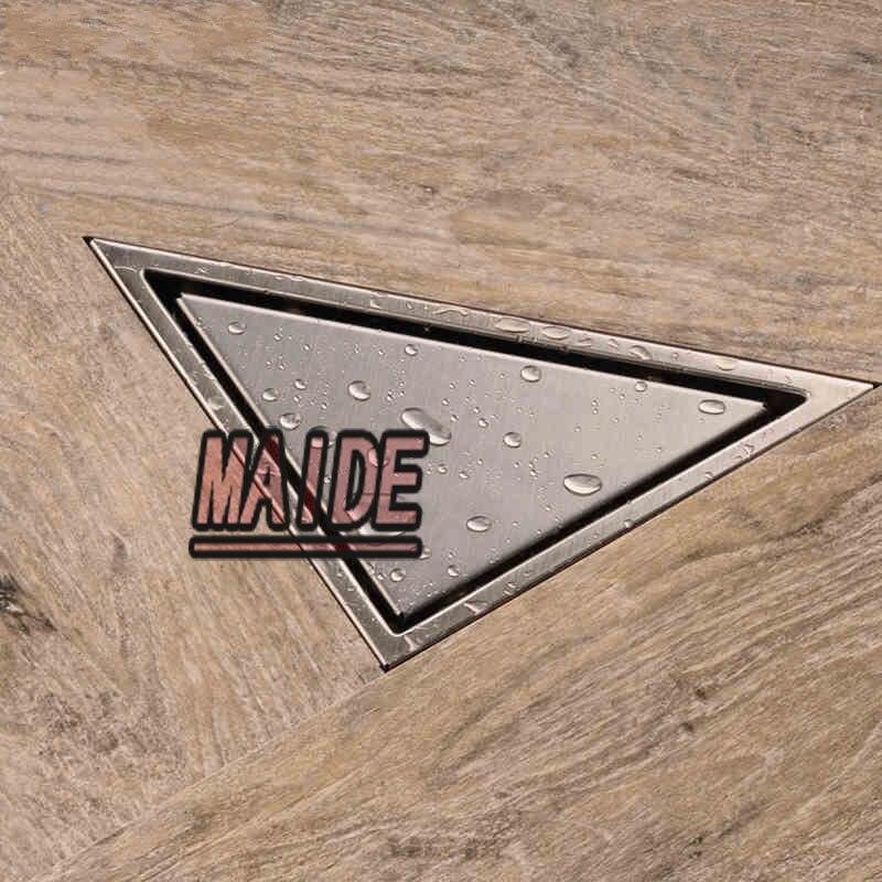 diy tile insert triangle floor waste grates bathroom shower drainlarge flow invisible floor drain