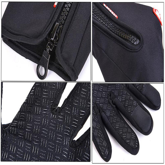 Unisex Touchscreen Winter Warm Gloves Cycling Bicycle Ski Outdoor Waterproof Camping Hiking Motorcycle Gloves Sports Full Finger