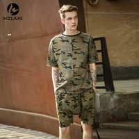 Top Quality Mens Shorts Camouflage Hip Hop Camo Shorts Kanye West Style Sport Short Summer Military