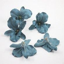 2019 simulación vintage Europea cymbidium falso cymbidium diy flor cadena sombrero decoración flor sala de estar flor