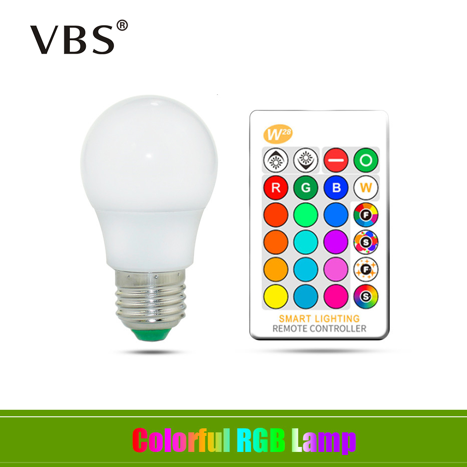 E27 LED 16 Color Changing RGB + White Magic Light Bulb Lamp AC85-265V RGB Led Light Spotlight 5W 10W 15W + IR Remote Control