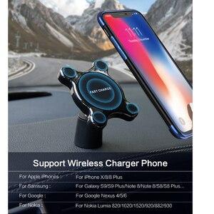 Image 4 - צ י אלחוטי מטען לרכב מגנטי מהיר טלפון הר במיוחד מהיר צ י טעינת Pad אוויר Vent הר עריסת טעינה עבור iPhone סמסונג