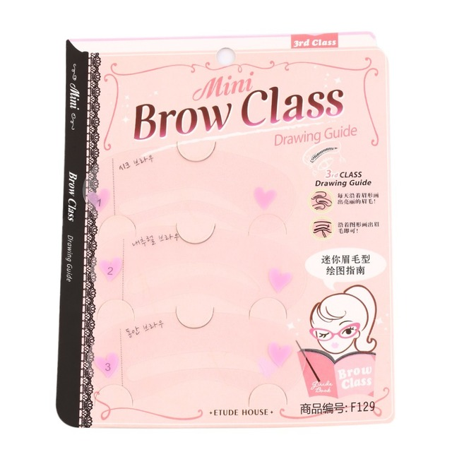 3 Styles Brow Shaping Guide Template Eyebrow Drawing Card Make-Up Stencil Top Quality 5