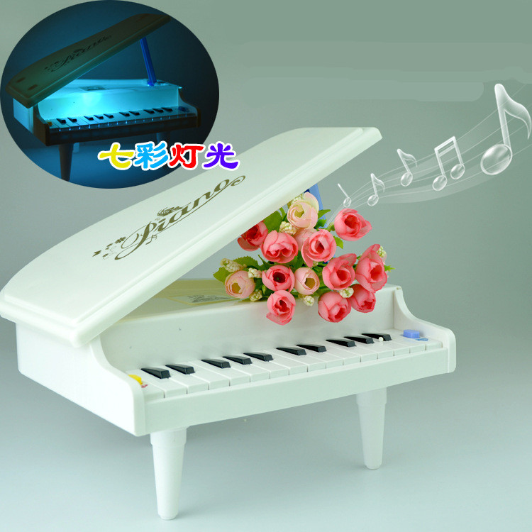 Mini Simulation Piano Toy Pre school Music font b Instrument b font Toy White Colorful Lights