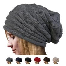 Hot Sale Cheap Beanies Women Cotton Kitted Skullies Winter Warm Hats Beanies  Headwear Fashion Accessories( cdec82bd162