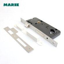 ML004  narrow mortise locks door lock stainless steel#304 alloy door lock 45x85 50x85 304 stainless steel european handle door lock bathroom bedroom wooden door cylinder locks