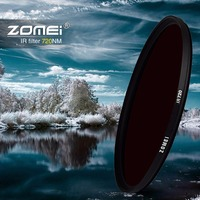 Zomei Infrared IR filter 720nm IR filter 37mm 49mm 52mm 58mm 67mm 72mm 82mm for SLR DSLR Canon Nikon Sony camera lens