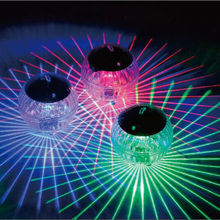 Outdoor Solar Color Changing Water Drifting LED Floating Lights Ball Pond Pool Path Landscape