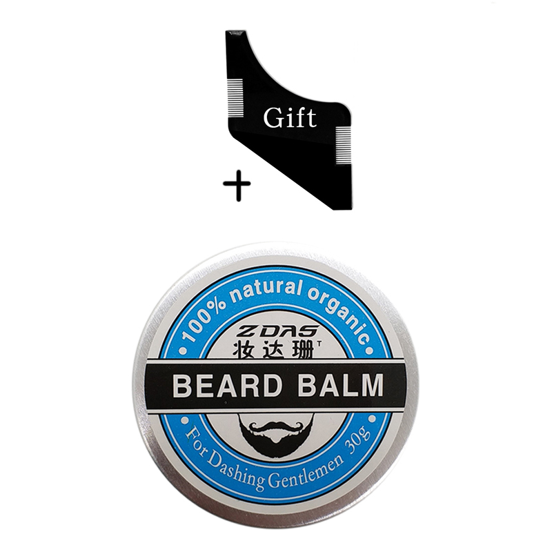 2018 New Beard Oil Balm Moustache Wax beard combgrooming conditioner beard balm for styling moisturizing smoothing gentlemen 2