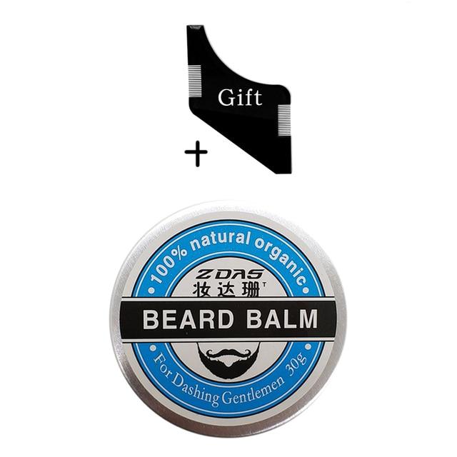 2018 New Beard Oil Balm Moustache Wax beard combgrooming conditioner beard balm for styling moisturizing smoothing gentlemen 2
