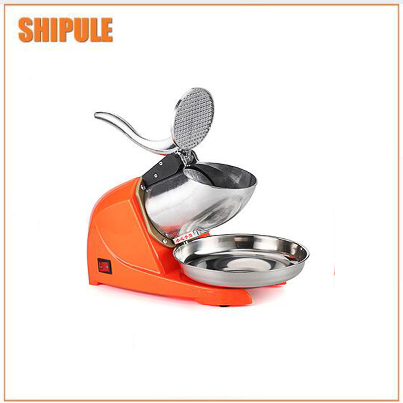 orange commercial ice breaker snow machine ice machine snow machine snow machine double knife. image
