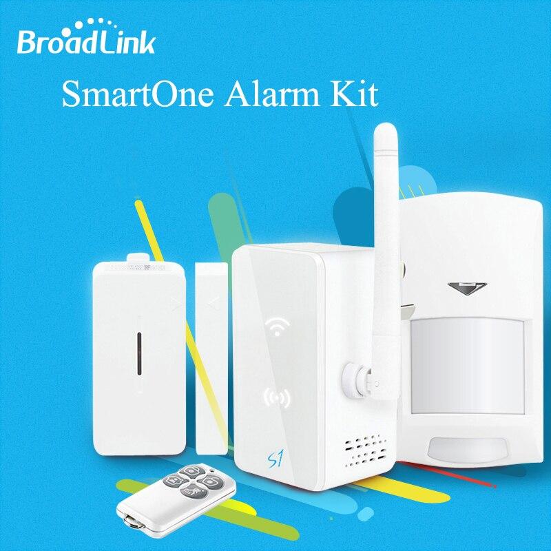 Broadlink S1 Умный дом автоматизации Системы smartone s1c движения PIR двери Сенсор Wi-Fi Беспроводной Дистанционное управление через IOS Android