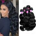 Feixes de cabelo brasileiro onda do corpo do cabelo virgem 5 pacotes Brasileira grosso macio onda do corpo virgem tecer cabelo humano Para O cabelo de Rosa produtos