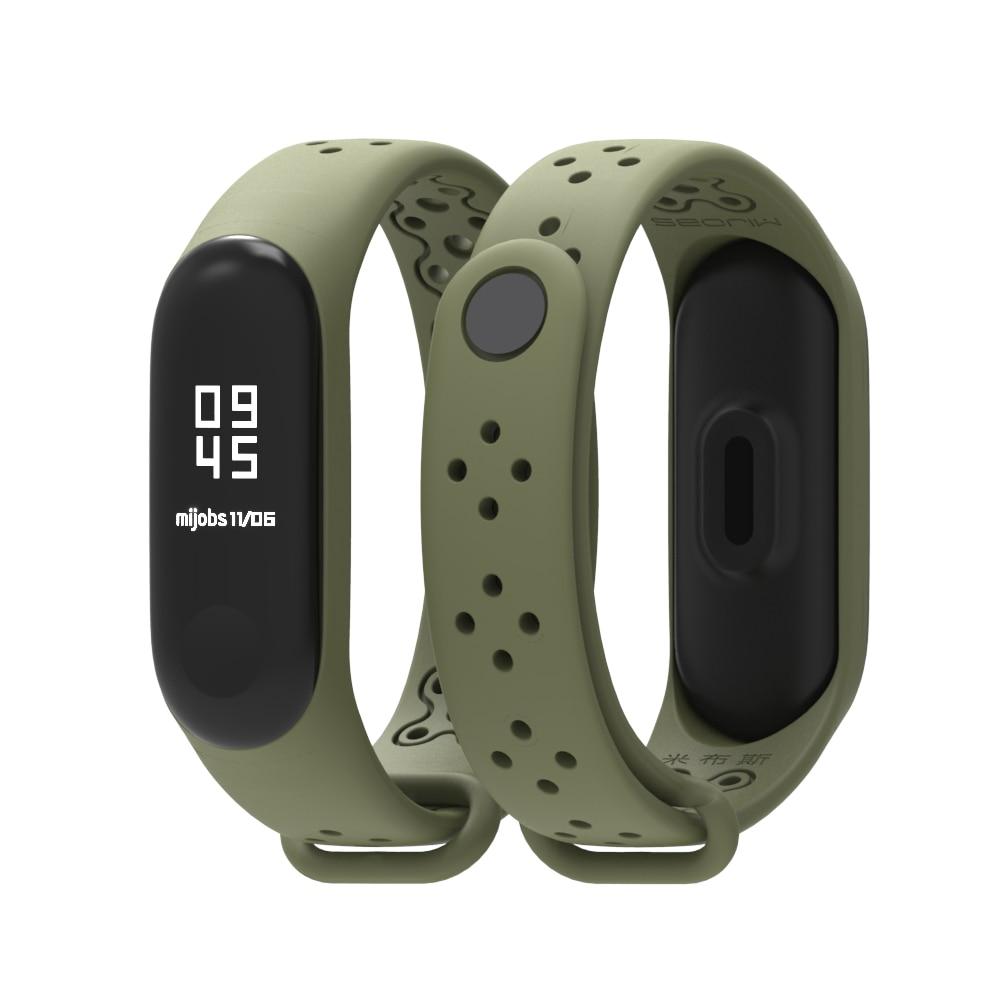 Mijobs Mi Band 3 Sports Strap For Xiaomi Silicone Strap Mi Band3 Watchband Bracelet Miband 3 Wristband Smart Watch Mi3 Accessory