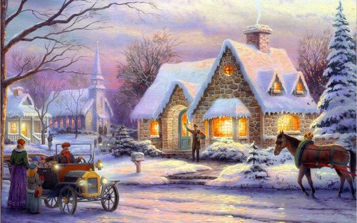 Обои Для Стола Зима Рождество