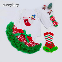 sunnykucy 2018 Christmas New ChildrenS Clothing Female Baby Hat Pettiskirt Holiday Set Infant Girl Wholesale	L209