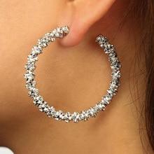 Классические большие круглые серьги-кольца из сплава серебряного золота, серьги в виде больших кругов для женщин, очаровательное ювелирное изделие, подарок, панковские массивные серьги