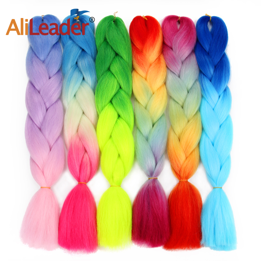 Alileader African Braiding Hair Synthetic Hair Extensions Kanekalon Jumbo Braid Hair For Russian Expression Braids 10Pcs/Lot