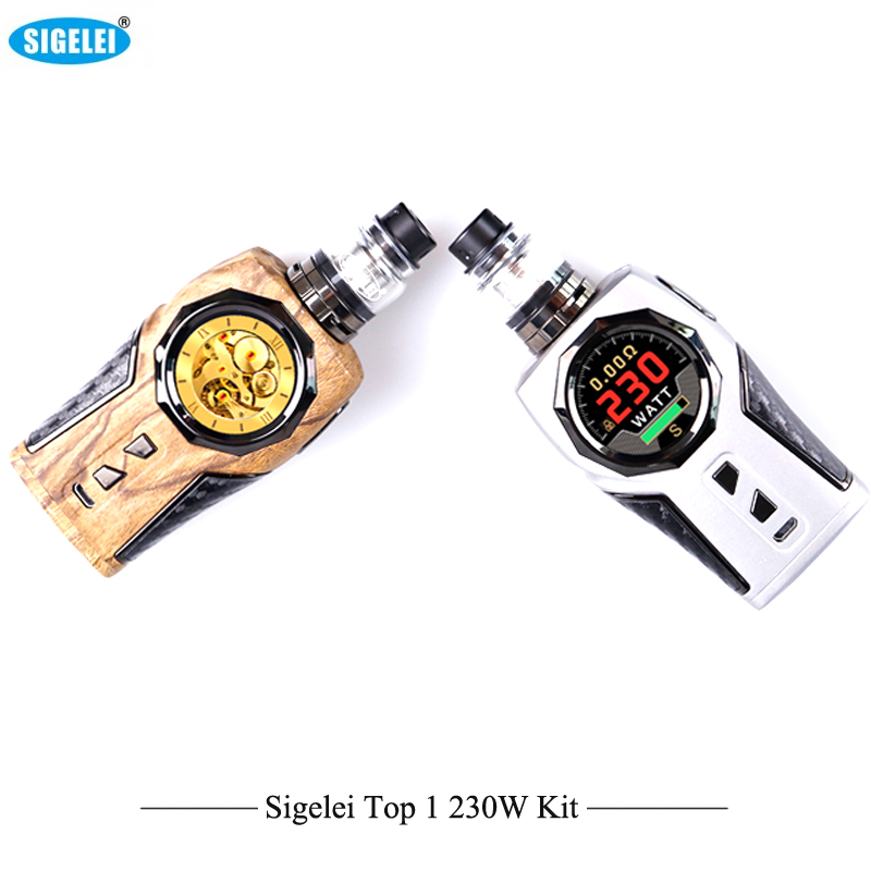 Pre-Order,Original Vaporizer Sigelei Top1 230W Box Mod TC Kit With Tank with 2ml P9 Sigelei Sub ohm Tank VS Vfeng E-Cigarettes цены