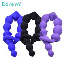 Do re mi Medical Grade Silicone Anal Stimulator Pull Beads Butt Plug Beads Anal Toys Female Male Adult Sex Color Supplies
