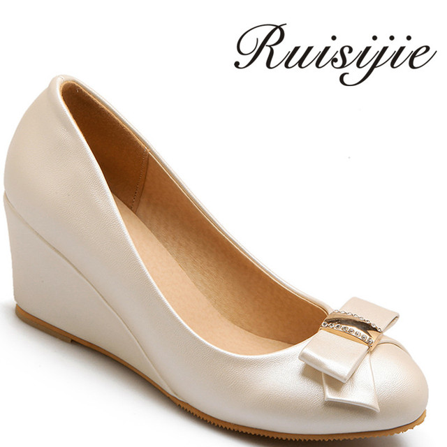 ruisijie new style fashion autumn and spring wedges appointment slip