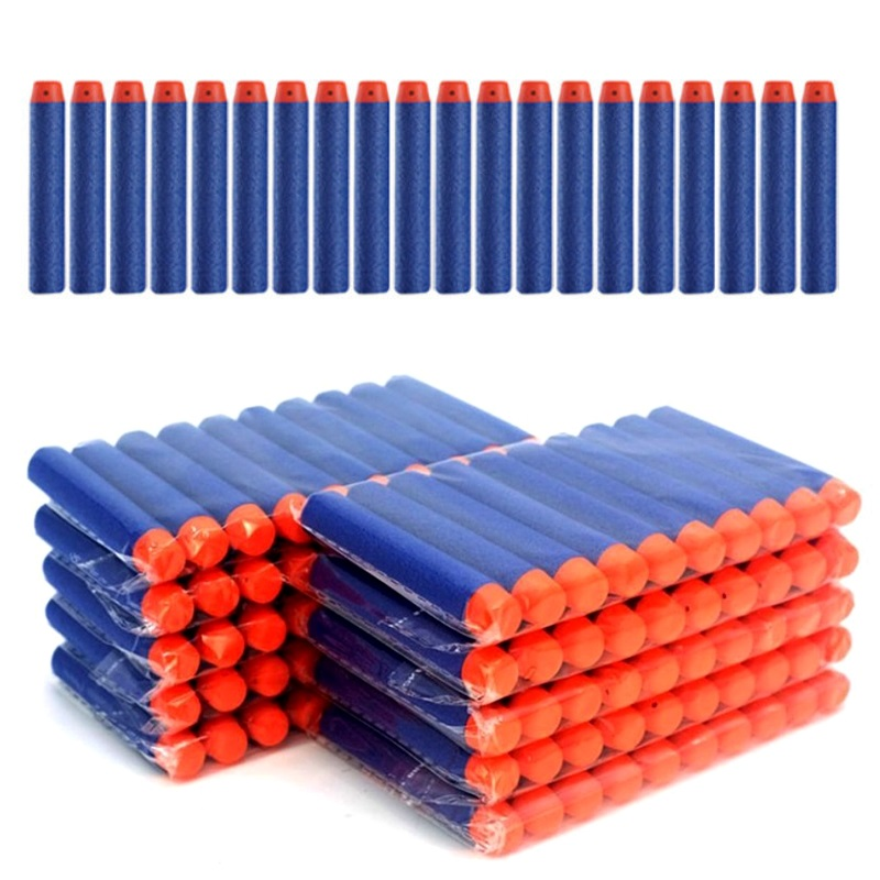Gun Bullets Soft 100 Pcs Nerf Bullets Soft Hole Head 7.2cm Guns Dart Universal Standard Soft Air Guns Bullets For Nerf Toy Gun