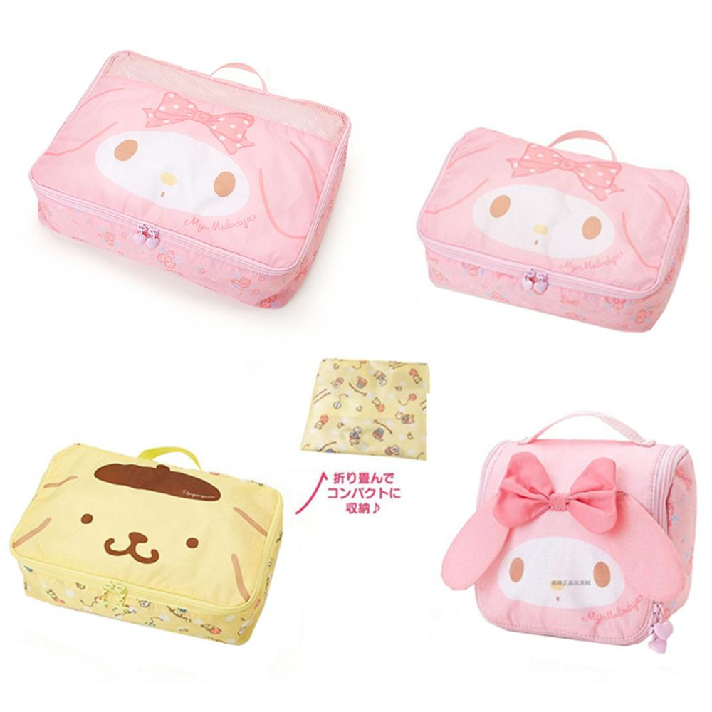 Storage-Bag Travel My Melody Folding Women Hanging Purin Cute Cartoon Pom-Pom
