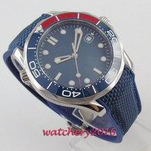 цена Men Watch BLIGER Men's Automatic Wristwatches Sapphire Luminous Top Brand Luxury Reloj Sterile Blue Dial Wrist Watches Calendar онлайн в 2017 году