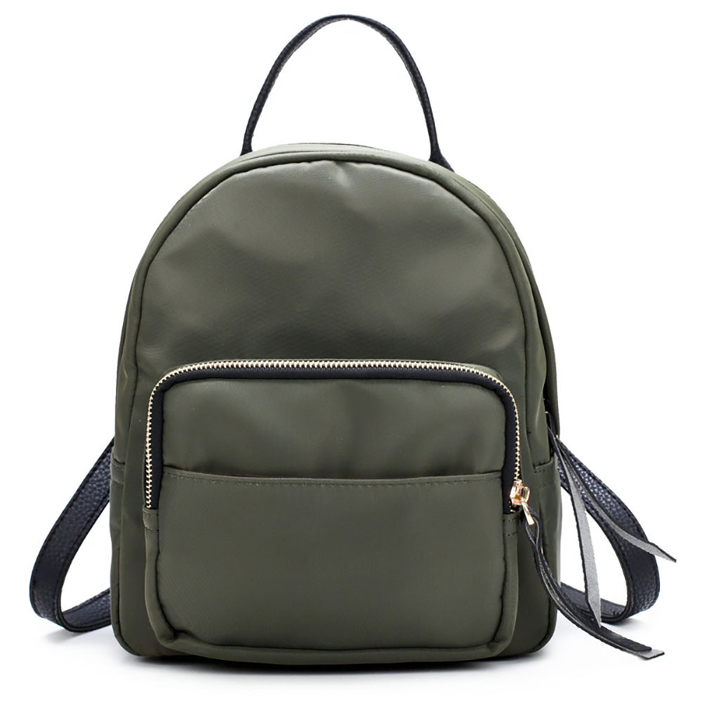 Nylon Waterproof Backpack Fashion Feminine Backpacks Women Small Travel Bag  Zipper Hit Color Double Shoulder Schoolbags 10Oct 16-in Backpacks from  Luggage ... f7f0ec23f233c