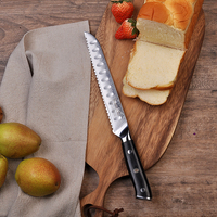 SUNNECKO 8 Inch Bread Knife 73 Layers Damascus Steel Japanese VG10 Core Blade Cake Slicing Cutter