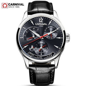 Image 1 - CARNIVAL switzerland Men Watch Top brand luxury Multifunction Automatic Mechanical watches Men Waterproof Luminous clocks montre