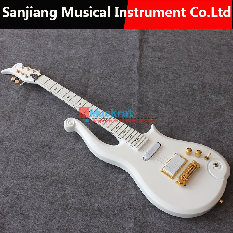 new concept 8ea5b d66e4 Prince cloud Electric guitar metal white color maple body neck