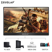 15.6 Inch HDMI HD 1080P HDR Type C Portable Monitor IPS Screen Car Display for PS4 XBOX PC computer/speaker /mobile phone