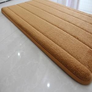 Image 5 - Alfombra moderna de espuma viscoelástica para baño tapete antideslizante para baño, felpudo para sala de estar, cocina, juego de 3 unidades