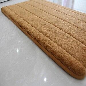 Image 5 - Modern Memory Foam Bathroom Mat Floor Carpets Anti slip Bath Mat Doormat Living Room Kitchen Rugs and Carpet 3pcs/set Foot Mat