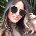 Mix vento nova moda óculos de sol mulheres tons olho de gato em ouro rosa de metal quadros sensuais senhoras óculos de sol da marca mulheres 2016