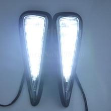 Luz de La Señal y atenuación estilo Relé Coche LED DRL luz Corriente Diurna para Toyota Camry 2015 2016