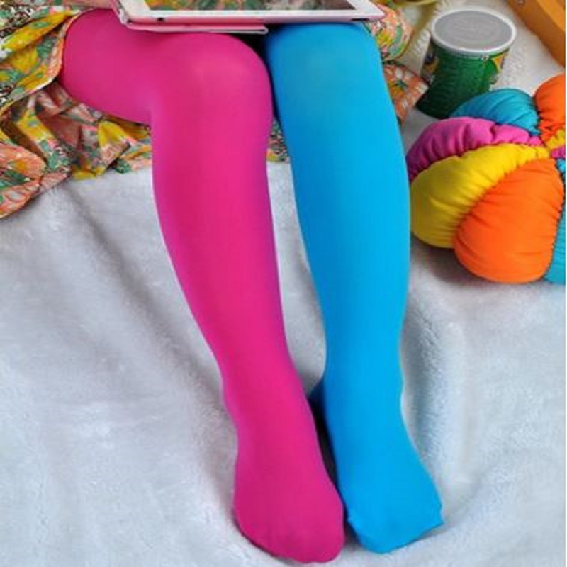 Candy Color Mixed Tights For Girls Patchwork Baby Girl Stretch Trouser Skinny Pants Kids Dance Tights Pantyhose Stocking 100-130