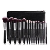 MSQ 15PCS Makeup Brushes Set Powder Foundation Eyeshadow Make Up Brushes Cosmetics Soft Wool Hair With