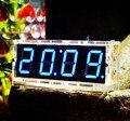 DIY 4 Dígitos 1 polegada LEVOU Kits de Relógio Eletrônico LED Relógio Digital Tempo Termômetro Diy com caso